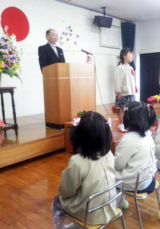 上温品幼稚園卒園式